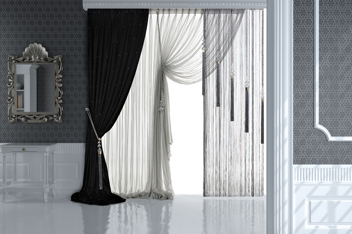 zebra and net curtain